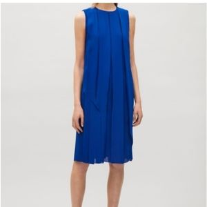 COS cobalt blue pleated dress